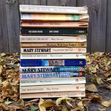 Mary Stewart pile of books