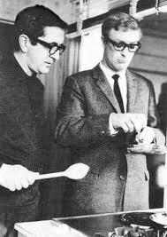 Len Deighton teaches Michael Caine to cook